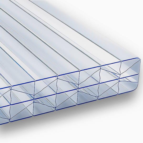 Stegplatten 16 mm X Struktur klar Polycarbonat - MARLON® ST Longlife