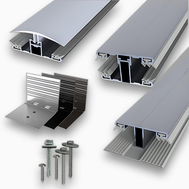 Aluminiumprofile für Stegplatten