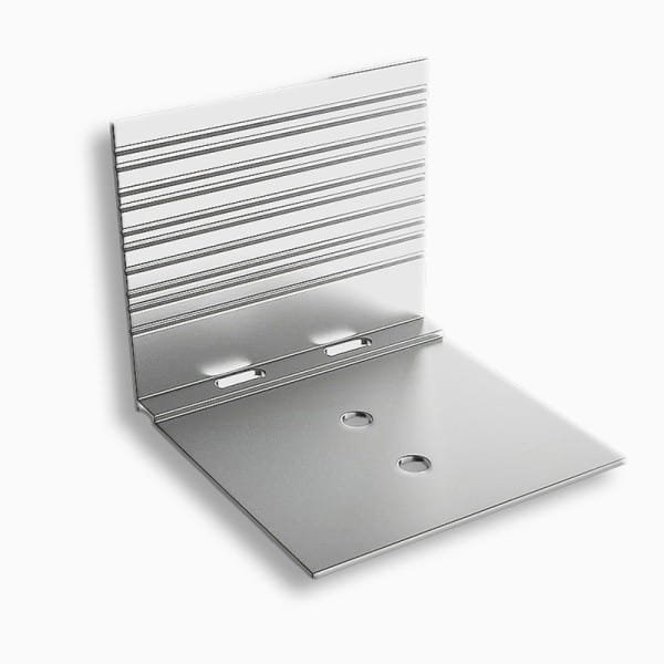 Abrutschwinkel Alu preßblank 65/54/64 mit Sollbruchstellen   für alle Profilsysteme