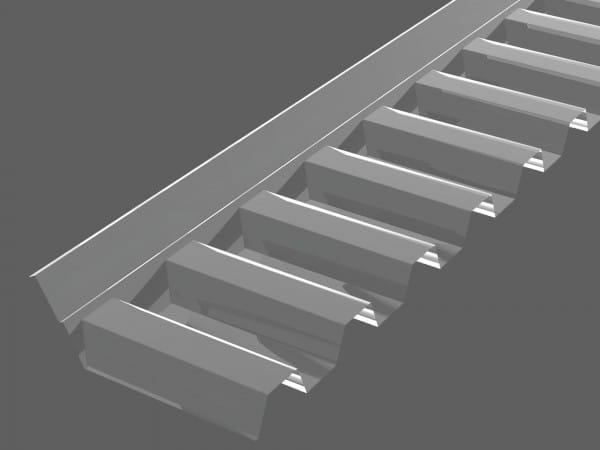 Wandanschlußprofil PVC farblos - Trapez 70/18 in 1100 mm | für Trapezplatten