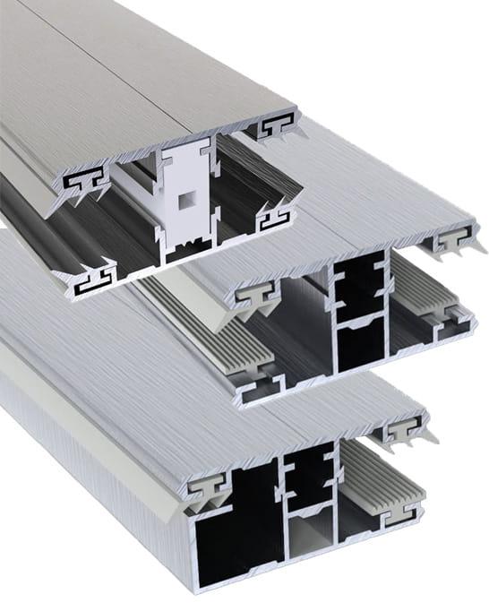 Alu-Alu ESG/VSG Sprossenprofil 6-10 mm