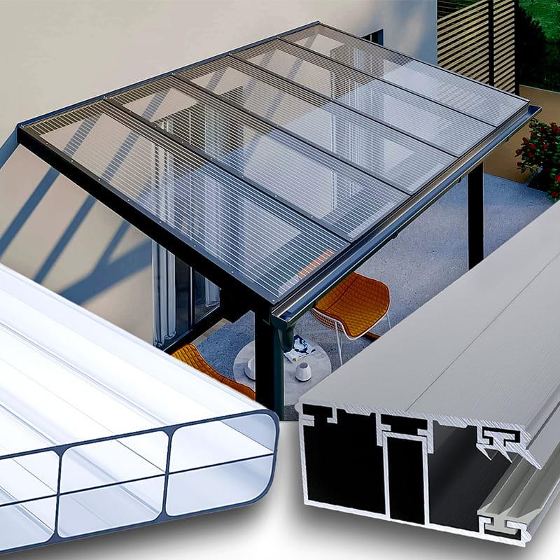 Terrassendach Alu-Alu Profilsystem