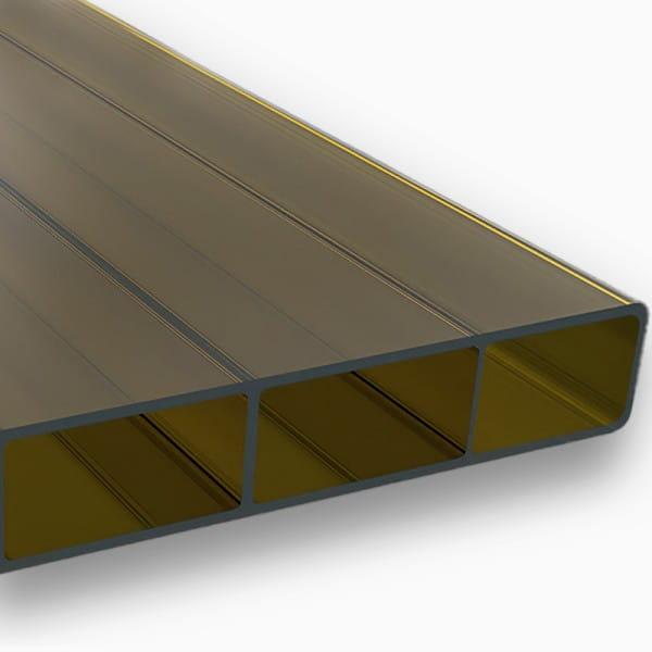 Stegplatten 16 mm braun Acrylglas - HIGHLUX® SDP 16/32 (Plexiglas® Rohmasse)
