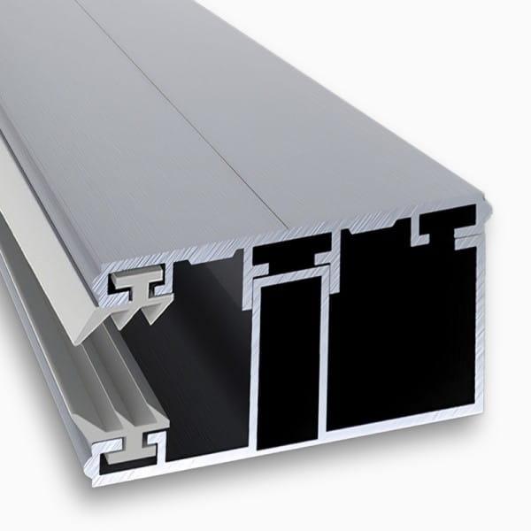 Randkomplettsystem Randsprosse Alu-Alu 60mm | für Stegplatten 16 mm