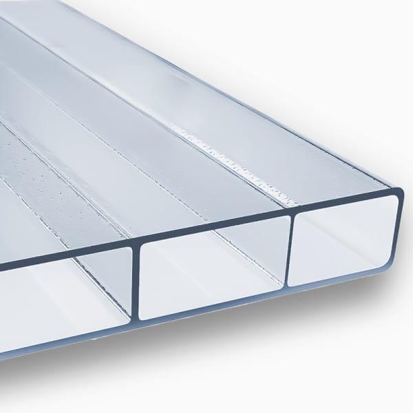 Stegplatten 16 mm farblos C Struktur Acrylglas - HIGHLUX® SDP 16/32 (Plexiglas® Rohmasse)