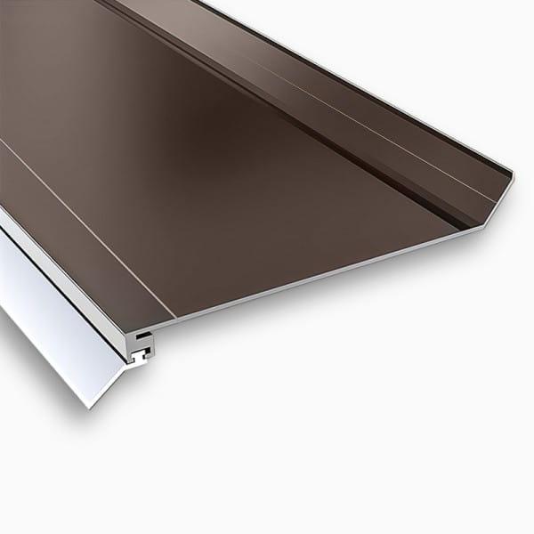 Wandanschlußprofil Aluminium braun   Breite ca. 100 mm mit langer Dichtlippe