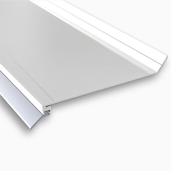 Wandanschlußprofil Aluminium weiß | Breite ca. 100 mm mit langer Dichtlippe